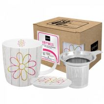 Mug Lid & Strainer Cardboard Happiness Flower (Item ID:2582)