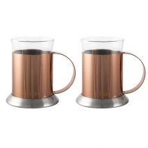 La Cafetiere Set of 2 Copper Glass Cups (Item ID:5187808)