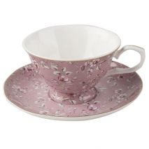 Ditsy Floral Tea Cup and Saucer Pink (Item ID:5202113)