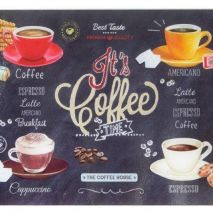 Ardesia Coffee Time Glass Worktop Protector (Item ID:2492)