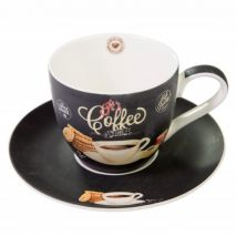 Ardesia Coffee Time Cappuccino Cup and Saucer White (Item ID:2580)