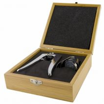 2 Piece Champagne Set Wooden Case (Item ID:2422)
